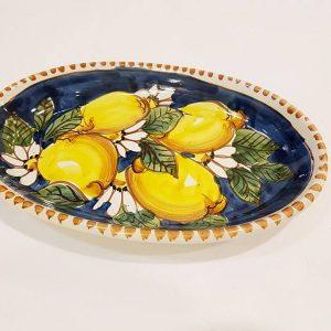 Piatto ovale cm 26 limoni001