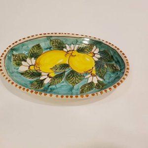 Piatto ovale cm 26 limoni002