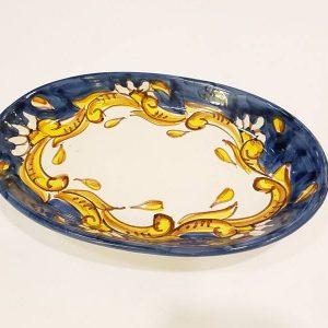 Piatto ovale cm 26 barocco oo1
