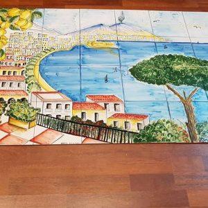 "Pannello 80×140 cm ""veduta Napoli"""