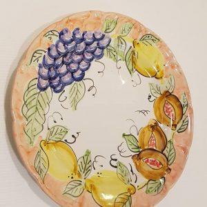"""Piatto piano """"uva , limoni e melograno"""" 001"""