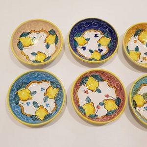 6 Coppe cm 18 decoro limoni