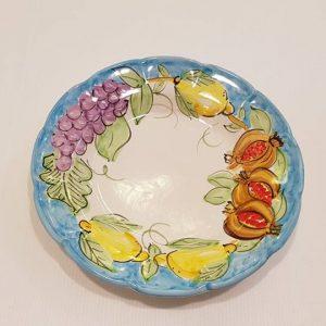 """Piatto fondo""""uva,limoni e melograno"""" 004"""
