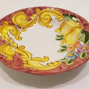 """Piatto fondo""""barocco,limoni e fiori"""""""
