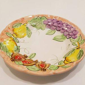 """Piatto fondo""""uva,limoni e melograno"""" 001"""
