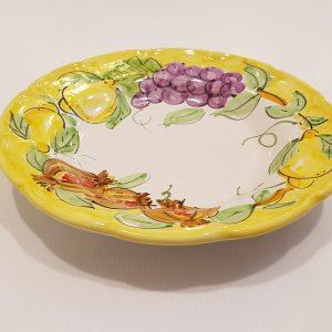 """Piatto fondo """"uva,limoni e melograno"""" 005"""