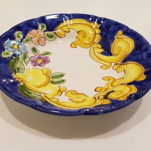 """Piatto fondo """"barocco,limoni e fiori"""" 002"""