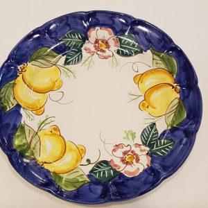 Piatto piano fiori e limoni 001