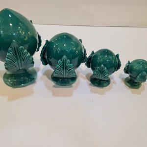 Pumo 14cm verde smeraldo